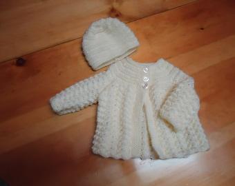 Baby coat with hat