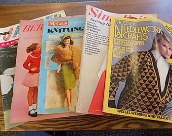 Vintage McCall's Knitting Magazinse - Crochet Magazines - 1950's & 1980's