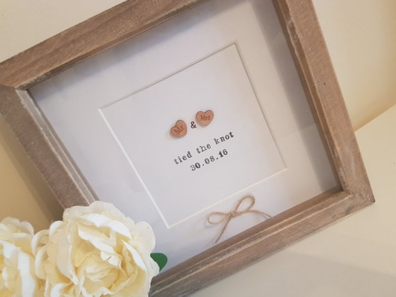 Mr & Mrs Tied The Knot, Wedding Gift, Wedding Frame, home decor