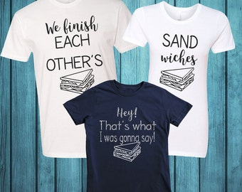 Family Shirts inspired by Frozen; We Finish Each Other's Sandwiches Shirts; We finish each others sandwiches;Movie Quote Shirts