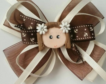 Brown anchor bow by Rosellies Closet shop