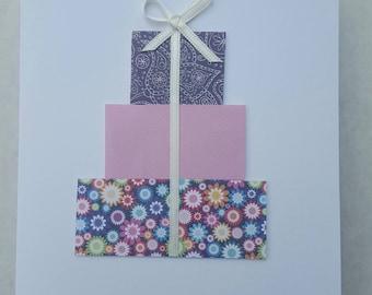 Handmade card with present embellishment