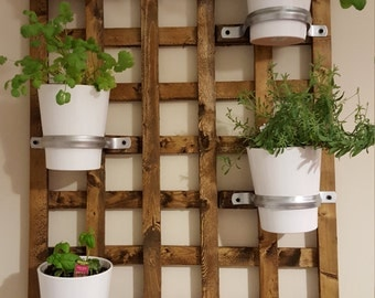 Hanging garden, indoor planter, rustic planter, indoor garden