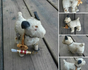 Antique Wind up Dog German Steiff Size Toy Walking Dog