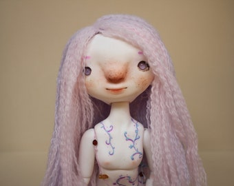 """Aurora Wig - Toopi Dolls - 7,5"""" yarn wig"""