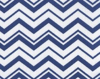 """BTHY - Different sized Chevron White and Navy Blue by Quilter's Showcase, Zig Zags, Pinked edges or crooked lines are either 1/16"""" and 3/8"""""""
