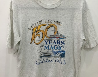 Vintage 90's Main Of The Mist 150 Years Magic Classic Design Shirt Size M #B42