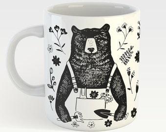 The Gardener Bear - cute mug