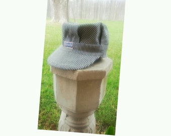 Blue Striped Railroad Man Hat from the ACTWU