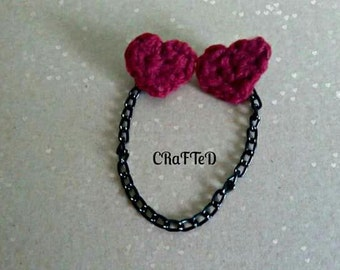 red hearted collar