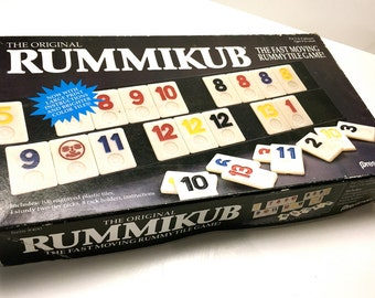 Vintage Rummikub Game, Board Game,  Pressman Game 1980's