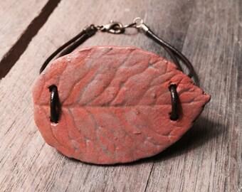 Large Leaf Cuff Bracelet