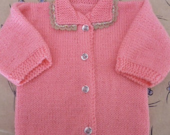Jacket/vest pink baby size 1 year