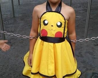 Inspired Pika-chu dress