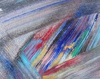 Spark Line, acrylic 11x14, Original art by S.A. Rivera