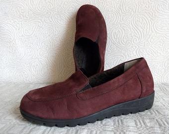 Dark Purple DANSKO Suede Shoes Warm Shoes Women's Shoes Lazy Shoes Everyday Comfortable Shoes Leather Shoes Small Platform Shoes