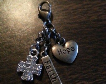 Heart of hope charm