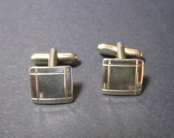 Vintage Cuff Links Gold Tone Cufflinks