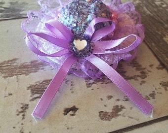 Angelic Hime Purple Mini Hat Hair Clip