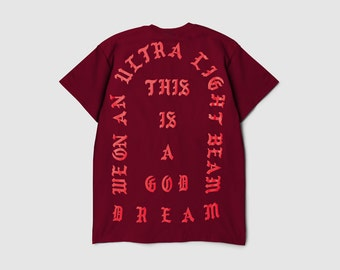 The Life of Pablo Tour RED I Feel Like Pablo Ultra Light Beam Short Sleeve Kanye West Yeezy TLOP Tour Merch Yeezus Perfect Design!!! Shirt