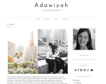 Blogger Template Adawiyah - Fully Responsive and 100% mobile friendly