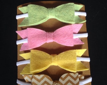 Nylon Headband With Bows One Size Fits All