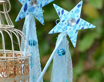 Blue Magic Glitter Fairy Wand