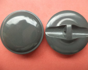 8 dark grey buttons 23mm (2369) button grey