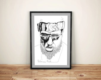 Poster Thelonious Monk, jazz, music, glasses