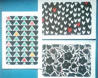 Patterned Blank Cards & Envelopes - Set of 3