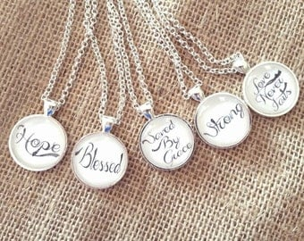 inspirational words,inspirational necklace