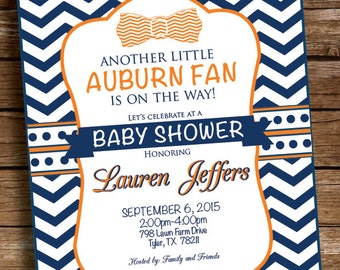 Auburn Football Baby Shower Invitation Birthday Party - Printed and Printable