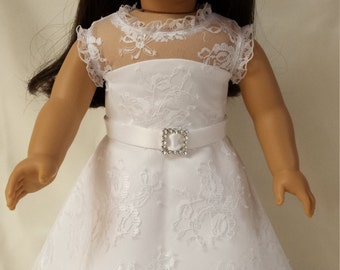 "Lace Wedding Dress for 18"" doll"