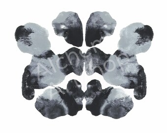 Rorschach 10, Original Art Print, Abstract, Ink Blot, 5x7, 8x10 and 11x14