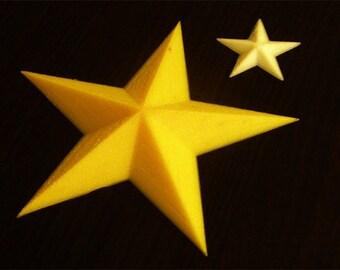 Star Decoupage on Plastic Shape of Christmas Stars Hobby Shape Decorations