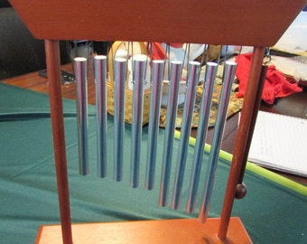Vintage Tabletop Musical Chimes with Striker, Xylophone Tabletop Chimes