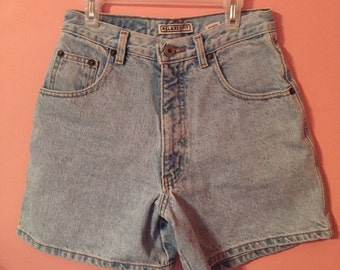 Vintage Light-Washed High Waisted Shorts