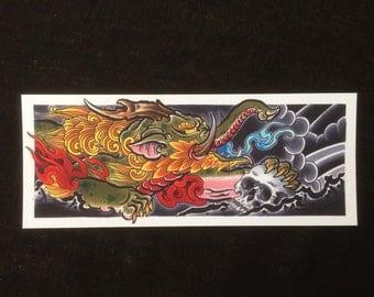 Baku japanese print, giclee on 310gsm etching paper