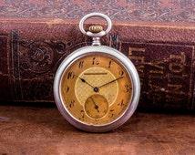 Swiss made pocket watch, classy pocket watch, gentlemens pocketwatch, mechanical pocket watch,retro pocket watch, Swiss made watch