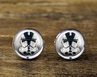 Clone Trooper cufflinks, Star Wars cufflinks,  Stormtrooper cufflinks