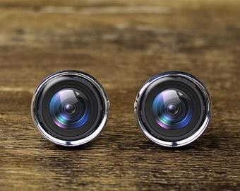 Camera Lens cufflinks, DSLR Lens cufflinks, Photographer cuffflinks, Camera jewelry