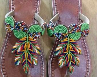 maridadi gladiator maasai  sandals/ tribal sandals / beaded sandals