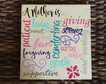 A mother is... Decorative tile