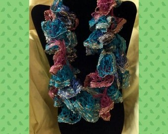 Ruffled Fashion Infinity Scarf