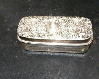 Silver & glass trinket box