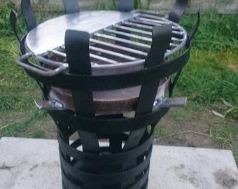 Hand made Fire basket,log burner, bbq,outdoor cooking,garden heating. Medieval style