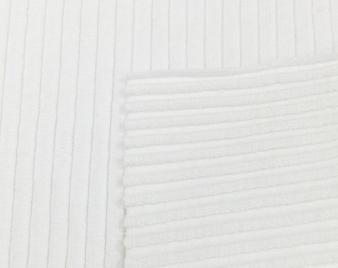 Supima Cotton 6X3 Rib Knit Fabric with Spandex