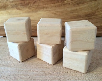 6 (2-3/4 inch)  Pinyon Pine Sanded Wood Blocks with Rounded Sanded Edges