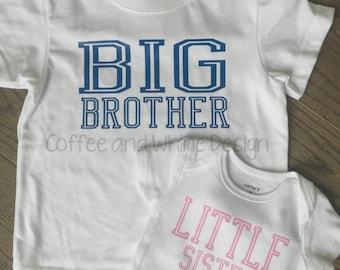 Big Brother/ Little Sister T-shirt & Bodysuit Set