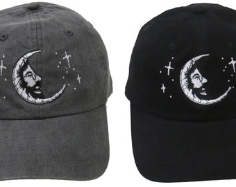 Jerry Garcia Hat -Jerry Moon embroidered Baseball Cap / hat / Grateful Dead